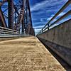 The bike path that crosses the McKinley Bridge from Missouri to Illinois.