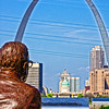 Gateway Arch from the Malcolm W. Martin Memorial Park in East St. Louis.