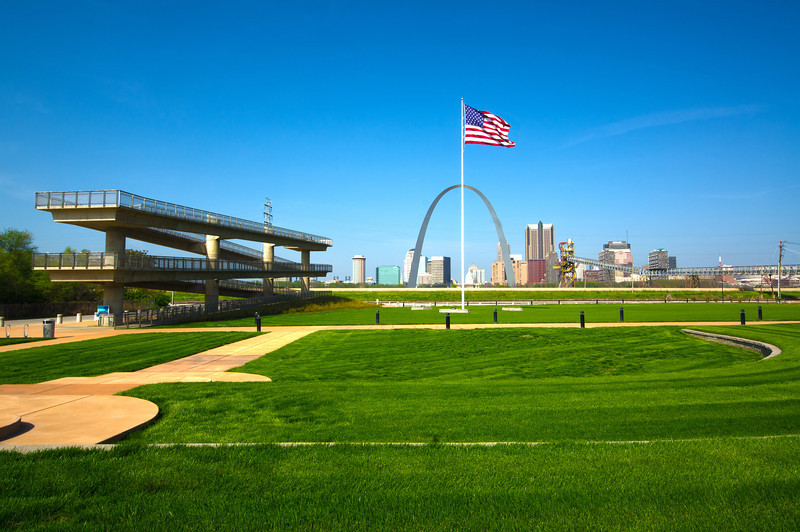 The Malcolm W. Martin Memorial Park in East St. Louis.