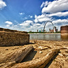 "Another view from the ""beaches"" of East St. Louis."
