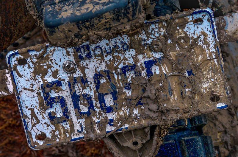 The mud on this dirt bike spells FUN!