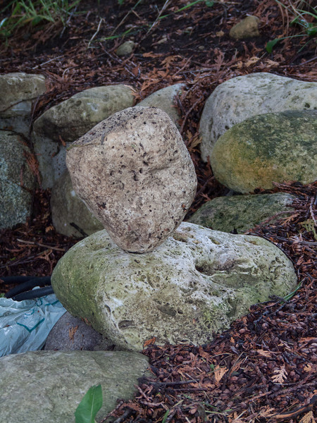 Some fool was going around balancing rocks!