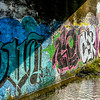 Cacophony of colour under the bridge.