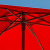 A red umbrella against a blue sky. Irresistible.
