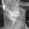 Ice cubes in crystal.