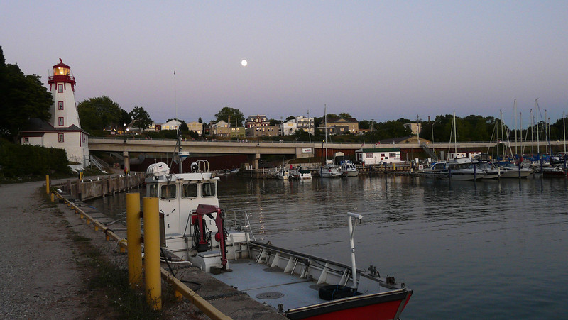 Full moon and a quiet harbour.