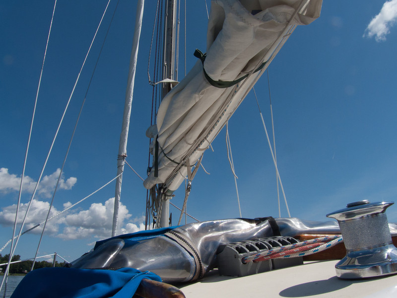 Sailing The Griffin in Lake St. Louis.