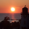 "Katrena had a great suggestion for dinner: <a href=""http://www.brucesteakhouse.com/index.html"">http://www.brucesteakhouse.com/index.html</a> and it was wonderful. <br /> From the restaurant, we watched the sun start to set beyond the lighthouse."