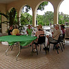 Members relaxing on Riviera courtyard