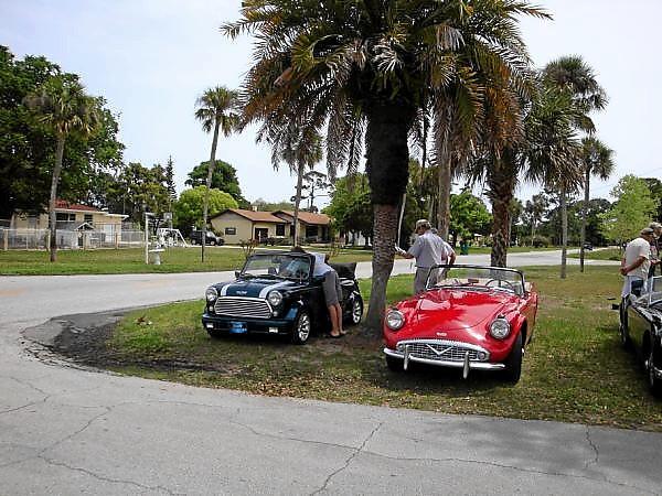 Ken Izzl  1973 droptop Mini Cooper & Kermit Wilson 1961 Daimler SP250