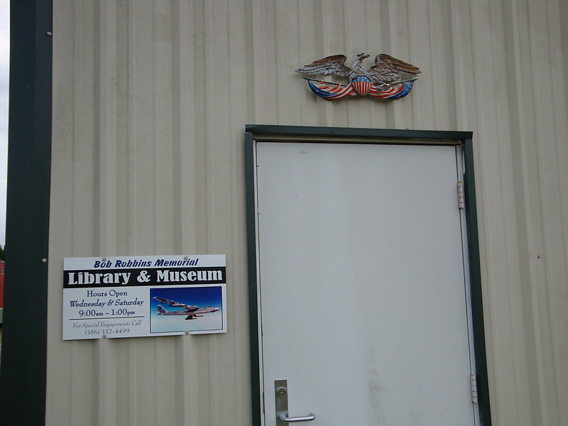 August 7 2010 - Deland Airport<br /> Museum entrance, hanger