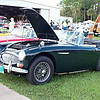 Timeless Wheels & Wings Show, New Smyrna Beach - October 2010 <br /> Healey, green 3
