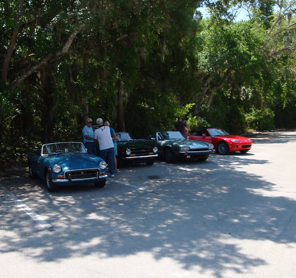 kufeldt mgb & suddard tr6 & hall jaguar & causey miata <br /> Washington Oaks Picnic <br /> May 22 2010