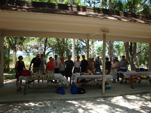 picnic, group shot before eating <br /> Washington Oaks Picnic <br /> May 22 2010