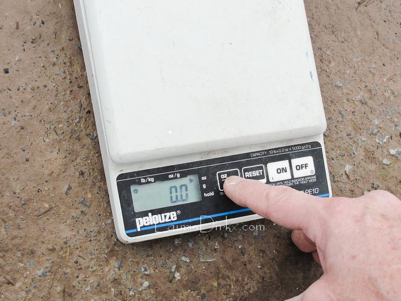 Preparing the scale.