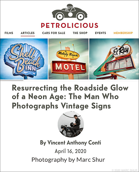 Resurrecting the Roadside Glow of a Neon Age: The Man Who Photographs Vintage Signs