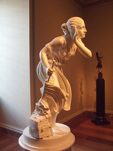 Nydia, blind girl of Pompeii by Randolph Rogers, 1860