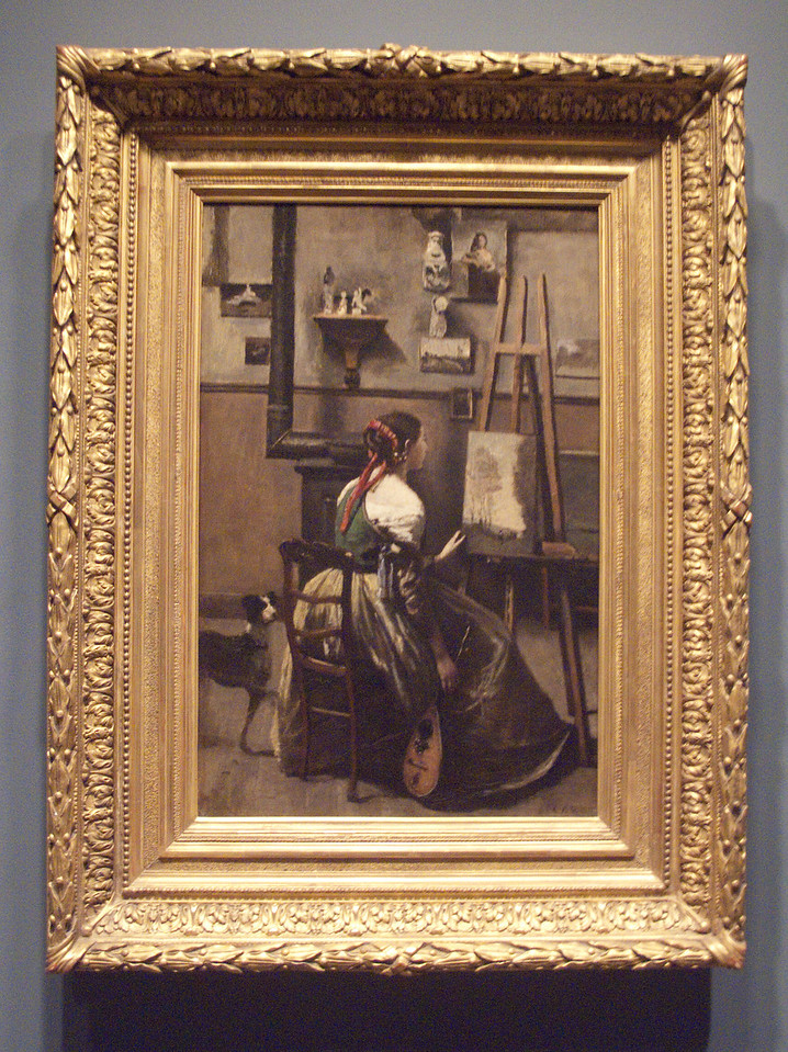 The Artist's studio by Corot, 1868