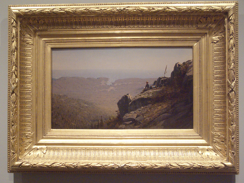 Artis sketching at Mount Desert by Samuel Gifford, 1864