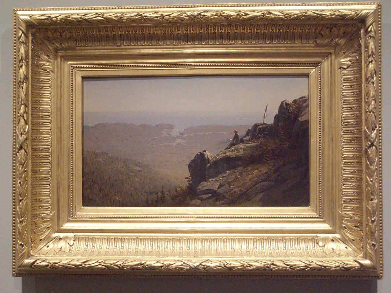 Artis sketching at Mount Desert by Samuel Gifford, 1864
