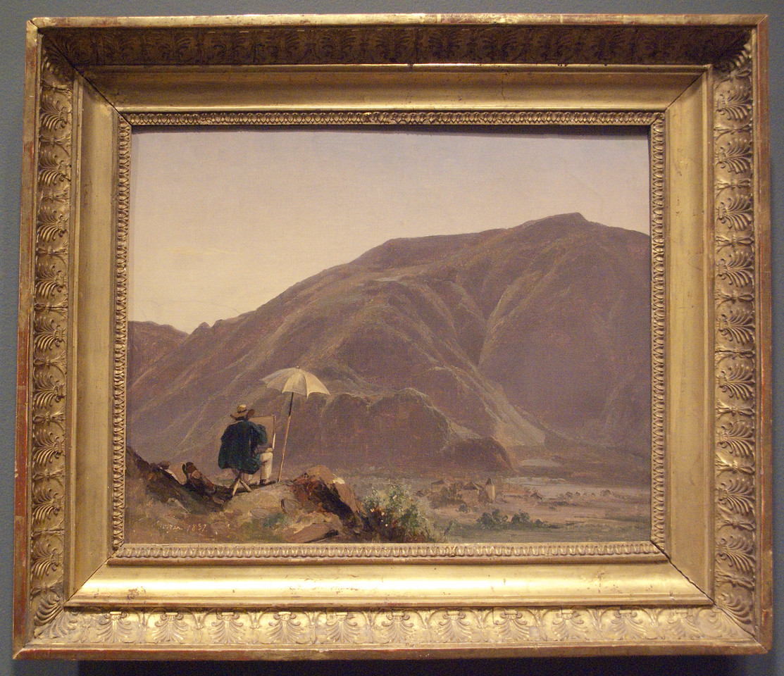 View of Bozen with a Painter by Jules Coignet, 1837