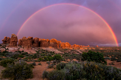 Rainbow in Arches