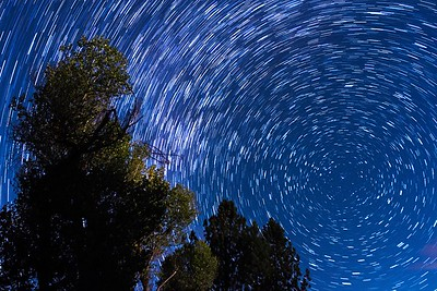 Star trails near Polaris