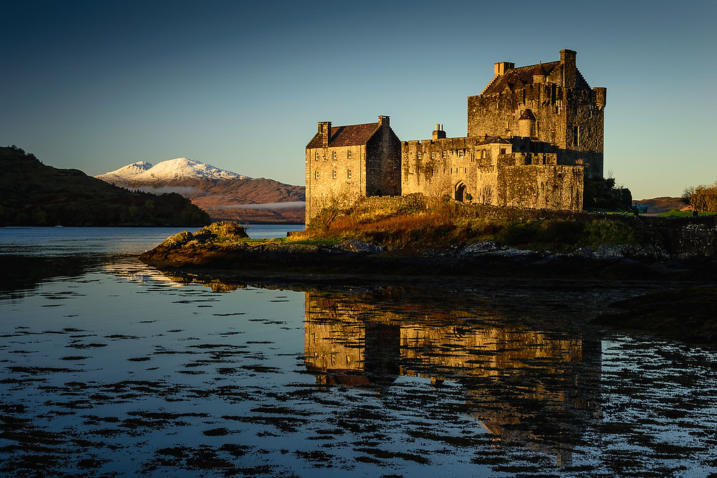 Dawn light on  Eilean Donan Castle