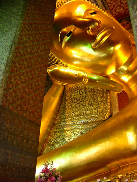 Head shot of the laying Budda