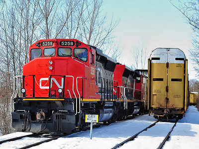 Canadian National `LNG`` conversion SD40-2(W)
