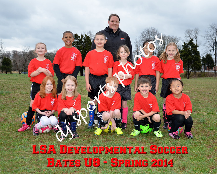 Bates U8 Final Team Picture with writing