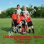 Westport U8 Team with writing
