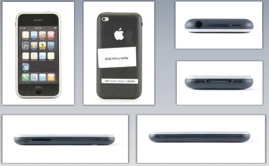 Photographs of Apple's pre-iPhone design models