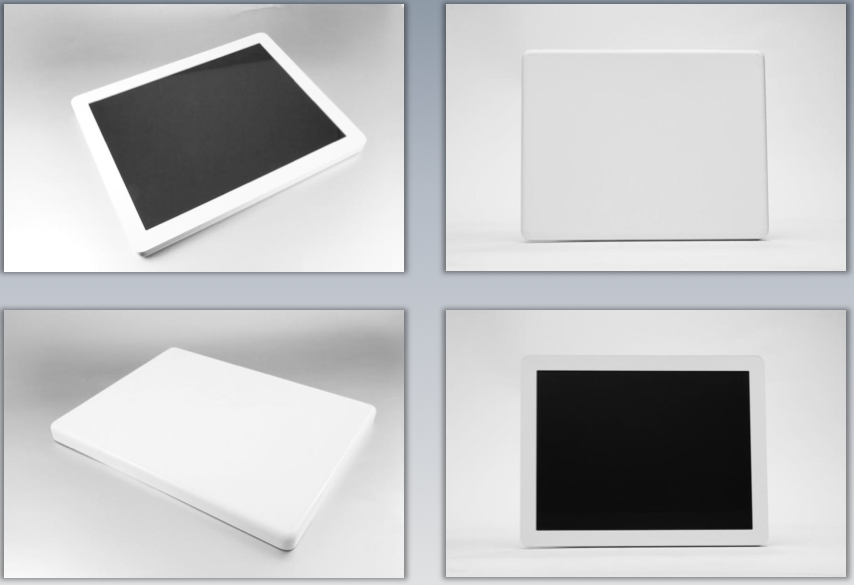 Photographs of tablet design models Apple considered
