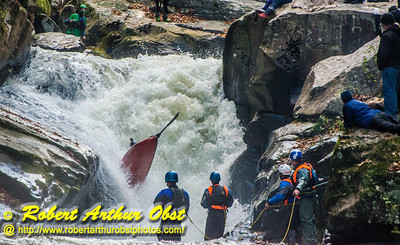 """Green River Race Narrows Extreme Wildwater - 1st place finisher in OC-1 or Open Decked Solo Canoe with a time of 07:32 - Nathan Zumwalt bib number O78 nearly going end-over-end as he paddles his Dagger Prophet Long OC1 over class 5+ Gorilla-The Flume within the Green River Narrows"" (USA NC Saluda; Obst FAV Photos Nikon D800 Daily Best Obst Image 6475)"