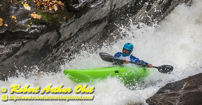 """Green River Race Narrows Extreme Wildwater - Competitor Philip Ellis in a Dagger Green Boat Long K1 with a Final time of 05:13 paddling through the 'Speed Trap' near the base of class 5+ Gorilla-The Flume within the Green River Narrows""  (USA NC Saluda; Obst FAV Photos Nikon D800 Daily Best Obst Image 5440)"