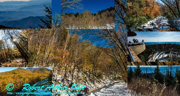 COLLAGE of Bob Obst Daily FAV Autumn Glory or Autumn Beauty images within Great Smoky National Park (USA NC TN Gatlinburg; Obst FAV Photos Nikon D800 Daily Best Obst Collage of Images 6835-6912-6760-6806-6865-6983-6859-6936)