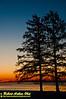 Orange sunrise over Lake Mendota's Bishops Bay and the Wisconsin State Capitol (USA WI Middleton)