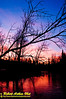 Crimson sunset over the wild Wolf River near the Wolf River Refuge within northeastern Wisconsin (USA WI White Lake)