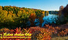 Blue skies and autumn colour encircle Mueller Lake near Polar Wisconsin (USA WI Polar; RAO 2012 Nikon D800 Image 6334)