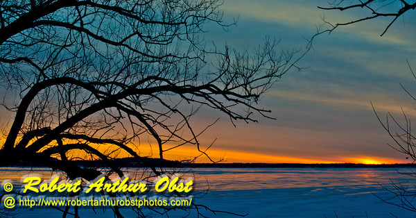 Gorgeous winter sunrise over a frozen Lake Mendota from Governor Nelson State Park (USA WI Waunakee; Obst FAV Photos 2013 Nikon D800 Daily Best Obst Image 7479)