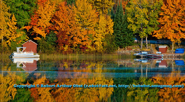 Gorgeous autumn reflections over Otter Lake within northeastern Wisconsin (USA WI Elcho; RAO 2012 Nikon D800 Image 6352)