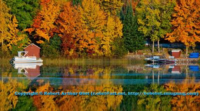 Gorgeous autumn reflections over Otter Lake within northeastern Wisconsin (USA WI Elcho; RAO 2012 Nikon D800 Image 6352)