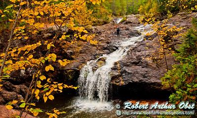 Blazing autumn foliage frames Amnicon Falls within Amnicon Falls State Park (USA WI South Range; RAO 2012 Nikon D300s Image 3798)