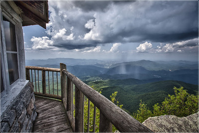 Summer Storm from Mount Cammerer Lookout.  Great Smoky Mountains