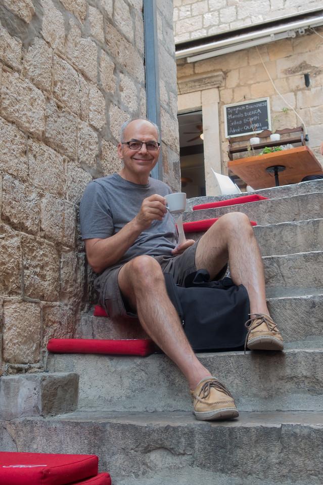 Enjoying Cappuccino in Dubrovnik Croatia