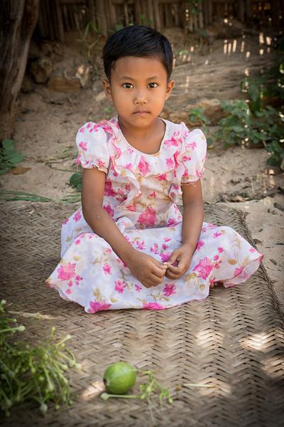 Girl in a village outside Bagan