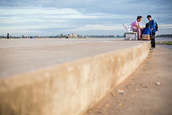 By the Mekong river in Vientiane