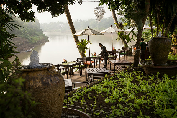 By the riverside in Luang Prabang