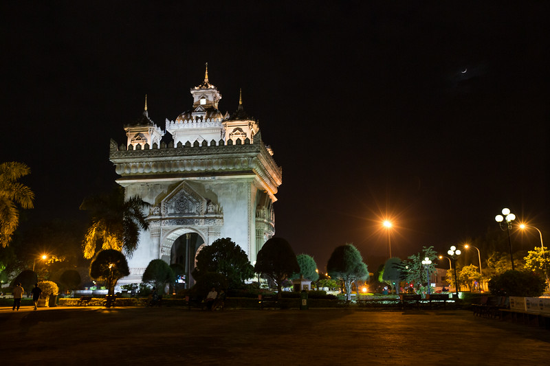 Vientiane at night